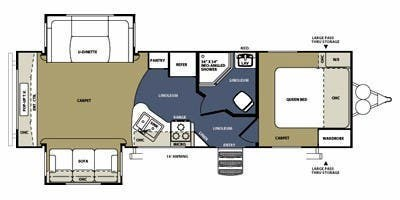 2012 Forest River Wildwood Heritage Glen 272RED floorplan image