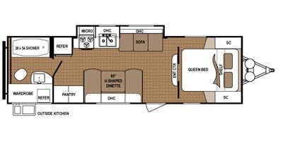 2015 Dutchmen Aspen Trail 2650RBS floorplan image