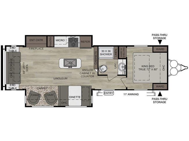 2020 East to West Della Terra 292MK floorplan image