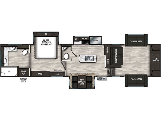 2020 Coachmen Brookstone 344FL floorplan image