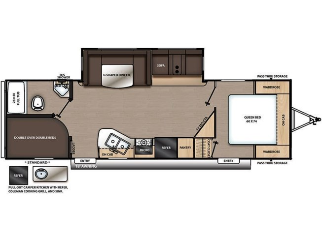 2020 Coachmen Catalina Legacy Edition 263BHSCK floorplan image
