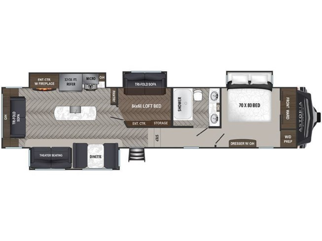 2020 Dutchmen Astoria 3553MBP floorplan image