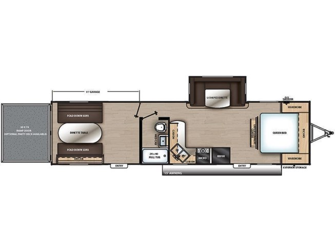 2019 Coachmen Catalina Trail Blazer 29THS floorplan image