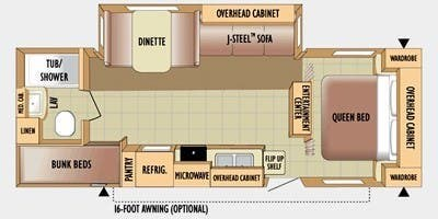 Floorplan of 2010 Jayco Jay Flight 25 BHS