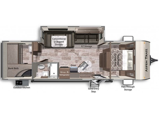 2021 Dutchmen Aspen Trail 2910BHS floorplan image