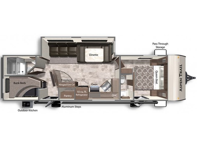 2021 Dutchmen Aspen Trail 3020BHS floorplan image