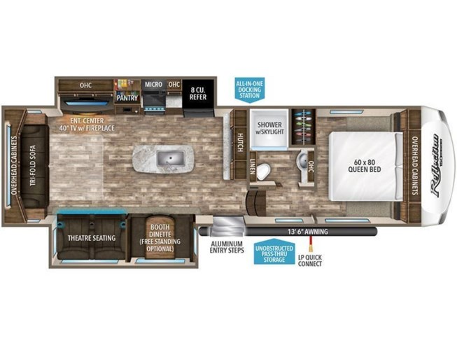 2020 Grand Design Reflection 150 Series 295RL floorplan image