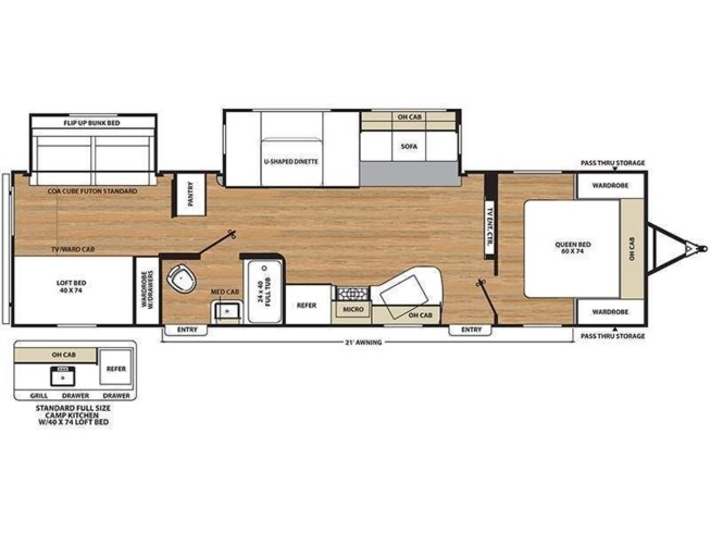 2019 Coachmen Catalina 323BHDSCK floorplan image