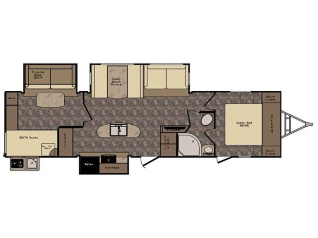 2017 CrossRoads Sunset Trail Grand Reserve ST33BD floorplan image