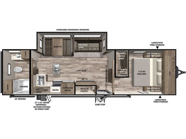 2021 Forest River Vibe 28RB floorplan image