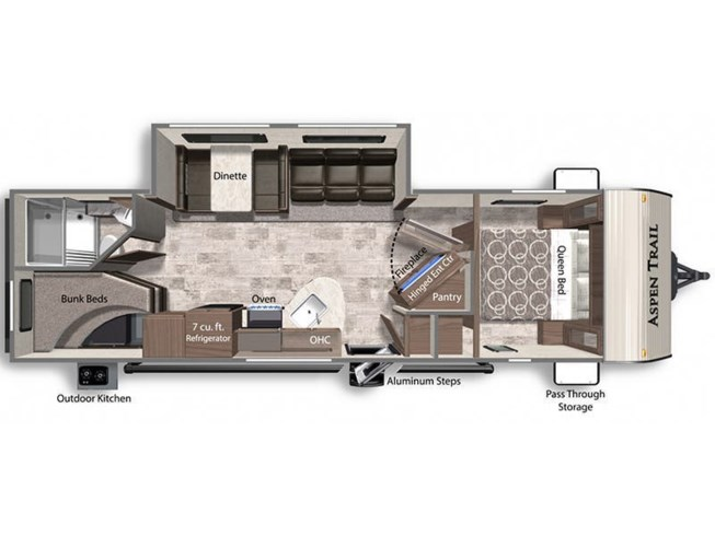 2021 Dutchmen Aspen Trail 29DB floorplan image