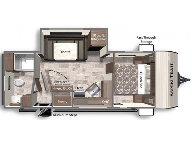 2021 Dutchmen Aspen Trail 2260RBS floorplan image