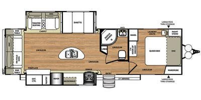 2015 Forest River Wildwood Heritage Glen 272RLIS floorplan image