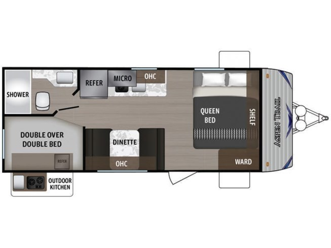 2020 Dutchmen Aspen Trail 1950BH floorplan image
