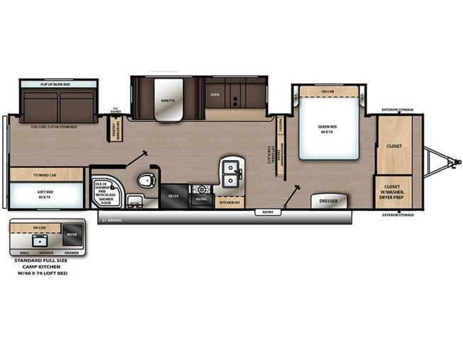 2020 Coachmen Catalina Legacy Edition 343BHTSLE floorplan image