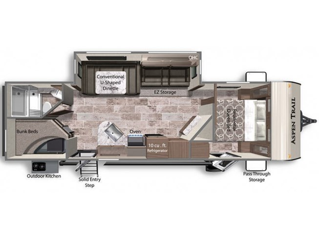 2021 Dutchmen Aspen Trail 2850BHS floorplan image