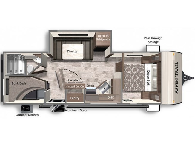 2021 Dutchmen Aspen Trail 2550BHS floorplan image