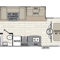 2017 Coachmen Freedom Express Liberty Edition 292BHDSLE floorplan image