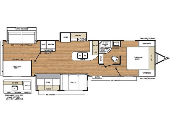 2018 Coachmen Catalina 333BHTS CK floorplan image