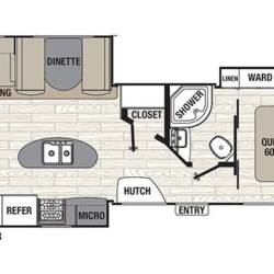 2017 Coachmen Freedom Express Liberty Edition 322RLDSLE floorplan image