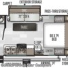 2020 Forest River Rockwood Mini Lite 2109S floorplan image