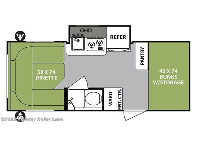 2018 Forest River R-Pod RP-176 floorplan image