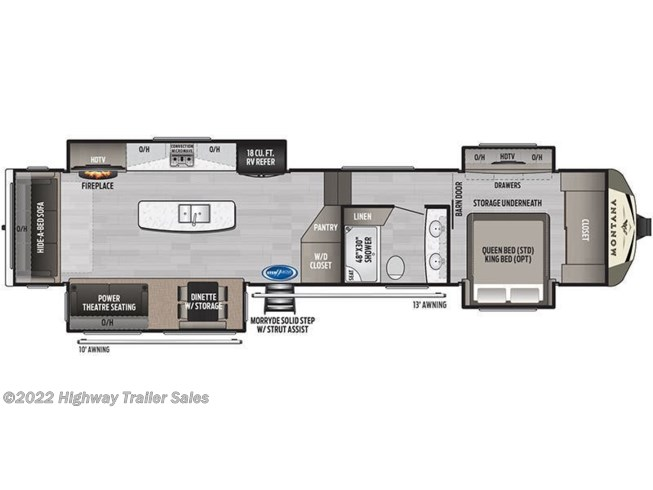 Floorplan of 2020 Keystone Montana 3780RL