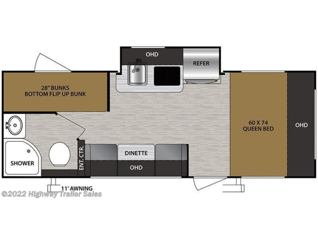 Floorplan of 2020 Forest River No Boundaries NB16.6