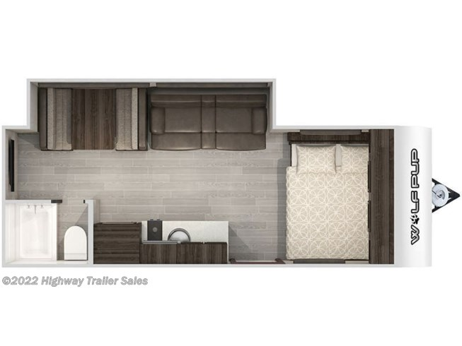 Floorplan of 2021 Forest River Cherokee Wolf Pup 18TO