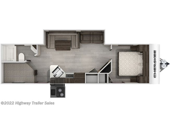 Floorplan of 2021 Forest River Cherokee 264DBH