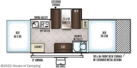 2018 Forest River Rockwood 282TESP floorplan image