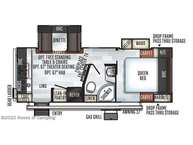 2019 Forest River Rockwood Mini Lite 2512S floorplan image