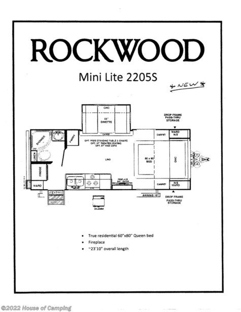New 2020 Forest River Rockwood Mini Lite 2205S For Sale by House of Camping available in Bridgeview, Illinois