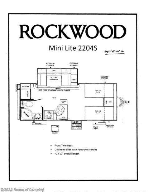 New 2021 Forest River Rockwood Mini Lite 2204S For Sale by House of Camping available in Bridgeview, Illinois