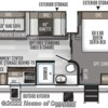 2020 Forest River Rockwood Ultra Lite 2614BS floorplan image