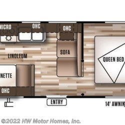 2016 Forest River Wildwood X-Lite 241QBXL floorplan image