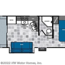 2015 Forest River Work and Play 275ULSBS floorplan image