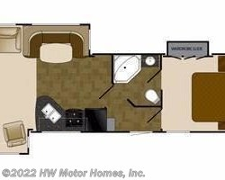 2013 Heartland RV Wilderness WD 3175RE floorplan image