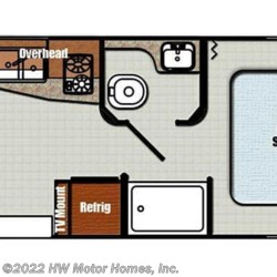 2016 Gulf Stream Vista Cruiser 19ERD floorplan image