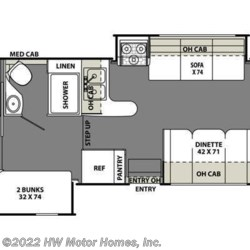 2015 Coachmen Freelander 32BH floorplan image