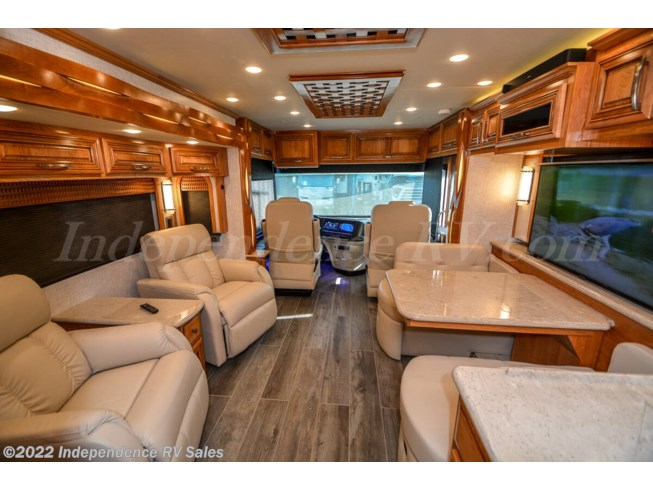2020 Newmar New Aire 3543, SOLD - New Diesel Pusher For Sale by Independence RV Sales in Winter Garden, Florida features 50 Amp Service, 6-Way Power Driver's Seat, Air Assist Suspension, Air Conditioning, Air Mattress, Alloy Wheels, AM/FM/CD, Automatic Leveling Jacks, Auxiliary Battery, Backup Camera, Backup Monitor, Batteries, Bluetooth Stereo, Blu-Ray Player, Booth Dinette, Built-In Safe, Central Vacuum, Convection Microwave, Custom Paint, Day/Night Shades, Diamond Shield Paint Protection Film, Dishwasher, Dryer, DVD Player, Egress Door, Electric Heat, Enclosed Water Tank, Exterior Freezer, Exterior Speakers, External Shower, Fantastic Fan, Fiberglass Sidewalls, Fire Extinguisher, Front Fiberglass Cap w/Window, Full Body Paint, Generator, Glass Shower Door, GPS Navigation, Heat Pump, Heated Floor, Hitch, Hydronic Heat, Icemaker, Inverter, Keyless Entry, King Size Bed, Kitchen Sink, Leather Furniture, LED HDTV, Medicine Cabinet, Non-Smoking Unit, Outside Entertainment Center, Overhead Cabinetry, Pantry, Pass Thru Storage, Pocket Door(s), Power Awning, Power Entrance Step, Power Seats, Recliner(s), Residential Refrigerator, Roof Deck, Satellite Prepped, Screen Door, Self Contained, Shower, Side View Cameras, Skylight, Slideout, Slide-out Awning, Slide-out Battery Tray, Smoke Detector, Solar Panels, Solar Prep, Solid Surface Countertops, Sound Bar, Stainless Appliances, Stove Cover, Stove Top Burner, Televator TV, Thermal Pane Windows, Tinted Windows, Toilet, TV Antenna, Vanity, Wardrobe(s), Washer