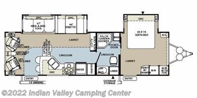2012 Forest River Rockwood Signature Ultra Lite 8314BSS floorplan image