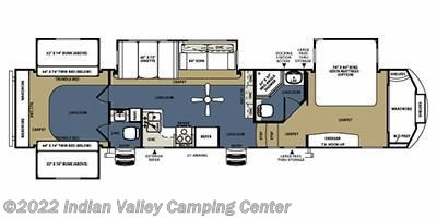 2013 Forest River Sierra 365SAQ floorplan image