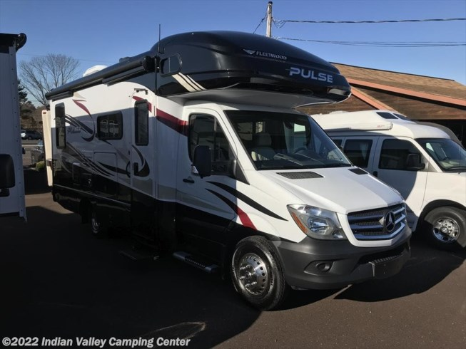 2018 Fleetwood Pulse 24A - New Class C For Sale by Indian Valley Camping Center in Souderton, Pennsylvania features Air Conditioning, Auxiliary Battery, Awning, Backup Monitor, Booth Dinette, CD Player, CO Detector, DVD Player, Exterior Speakers, External Shower, Generator, Hitch, LP Detector, Microwave, Oven, Power Entrance Step, Queen Bed, Refrigerator, Roof Vents, Shower, Skylight, Slideout, Slide-out Awning, Smoke Detector, Stove Top Burner, Toilet, TV, Water Heater