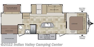 2014 Keystone Cougar XLite 33RBI HIGH COUNTRY floorplan image