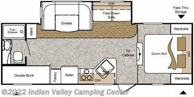 Floorplan of 2011 Keystone Passport Ultra Lite Grand Touring 2650BH
