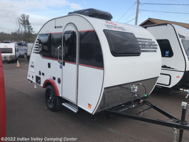 2021 Little Guy Trailers Mini Max Base - New Travel Trailer For Sale by Indian Valley Camping Center in Souderton, Pennsylvania features Roof Vents, Toilet, Refrigerator, CO Detector, Auxiliary Battery