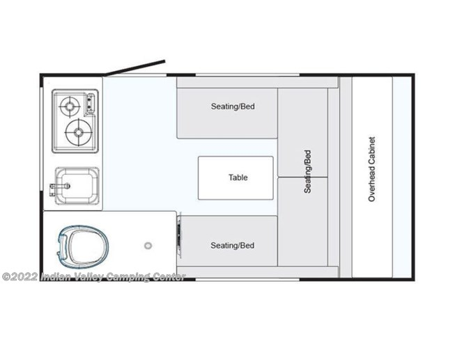 Floorplan of 2020 NuCamp TAB 320 S