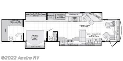 Floorplan of 2015 American Coach American Eagle 45N