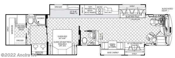 Floorplan of 2011 American Coach American Eagle 45T